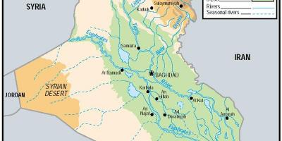 Mapa ng Iraq elevation
